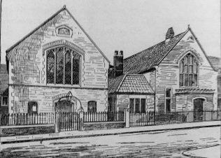 An unnamed Primitive Methodist chapel in Bristol in a picture from 1900 | Primitive Methodist Conference Handbook 1900