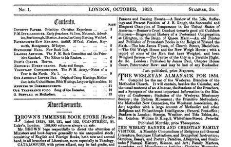 The Primitive Standard (1853-54)