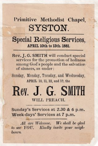 Easter services handbill 1881 | Ray young