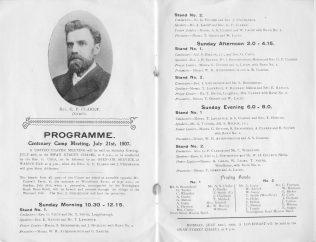 programme | Centenary Camp Meeting Souvenir Handbook