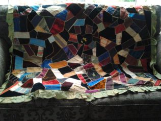 Patchwork quilt made by John Maylard, c1875 | donated to Englesea Brook Museum by his great grand daughter