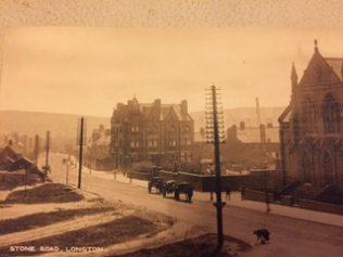 Bourne Chapel looking towards Lightwood. | Pelham period postcard