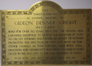 Plaque from the original Methodist church in South St Dorchester | Dorchester United Church