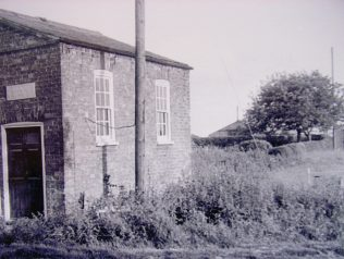 Picture we have of our Cumberworth Primitive Methodist Chapel & Sunday School Room taken 26th June 1965.  Notice front and rear wooden communal posts for utility cables. There is no mains gas or water. (We have another similar picture of this one on a 35 mm glass slide and that at a Lincolnshire Library). | Ray & Marie