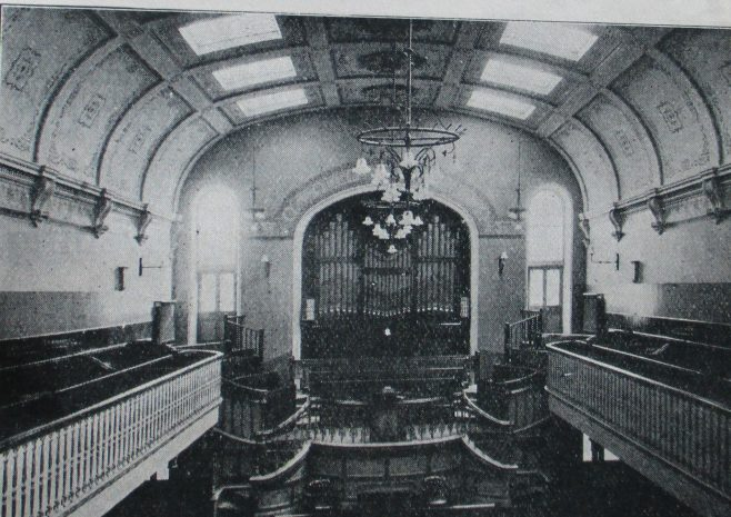 interior of Reading, London Street Primitive Methodist chapel | Handbook of the Primitive Methodist Conference 1915; Englesea Brook Museum