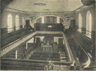 Regent Street Swindon interior | Swindon Centenary Synod Handbook 1925