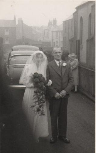 Victor Davies' Grandad (Vic Haynes) with his sister Gladys Haynes at her wedding in the 1950's | Victor Haynes