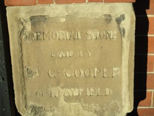 foundation stone Rocester PM chapel | Christopher Hill December 2017