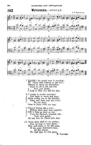 Hark! The gospel news is sounding | Primitive Methodist Hymnal with supplement 1889