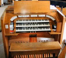The organ console | Central Methodist Church, Letchworth