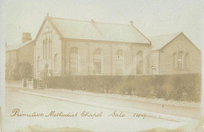 Sale Primitive Methodist Church, Cheshire   postcard belonging to Steven Wild