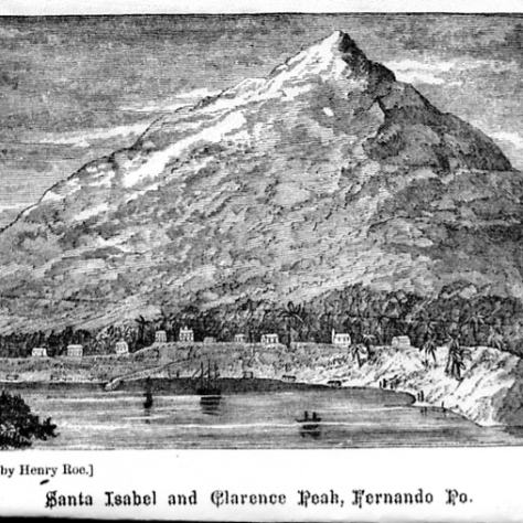 Santa Isabel and Clarence Peak 1870 | sketched by Rev. Henry Roe