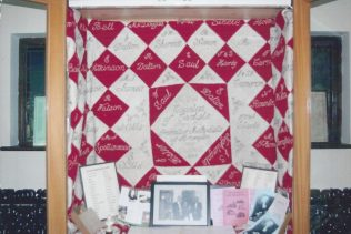 Quilt presented for support for temperance cause