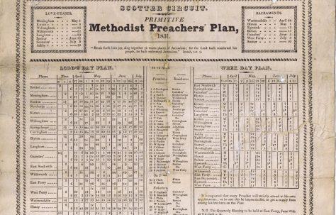 Scotter Circuit Primitive Methodist Preachers' Plan