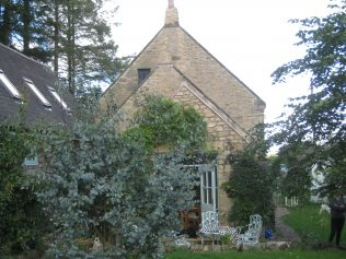 Rear view of chapel from garden