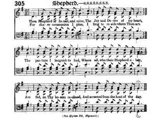 Tune: Shepherd from the Primitive Methodist Hymnal with Supplement 1889
