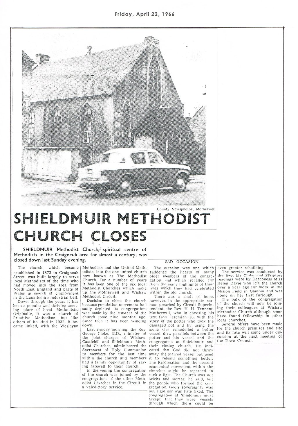 Shieldmuir Primitive Methodist Church