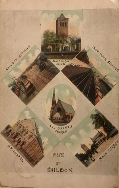Views of Shildon with New Shildon Primitive Methodist chapel; postmark 1915   Steven Wild
