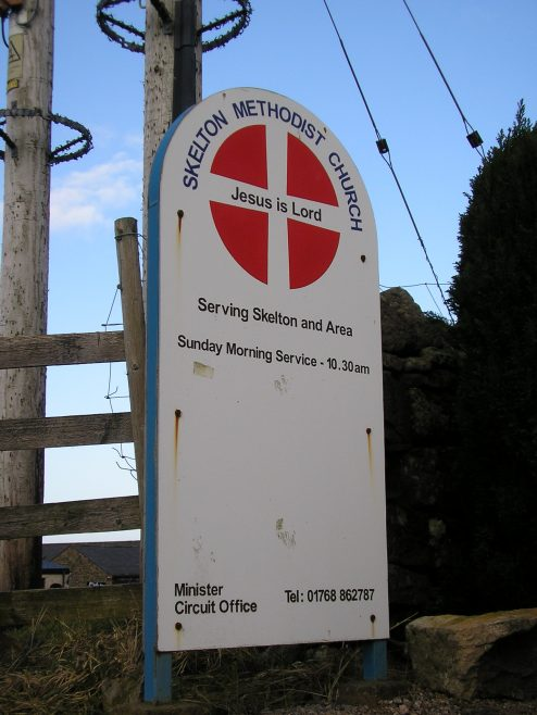Skelton PM Chapel, notice board, 24.01.2015 | G W Oxley