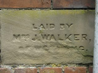 Laid by Mrs J. Walker of Wetwang
