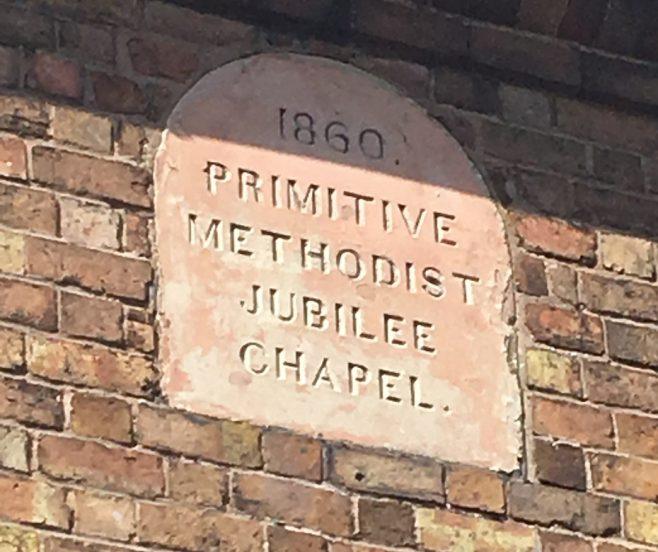 St George's Primitive Methodist chapel datestone   Christopher Hill August 2018