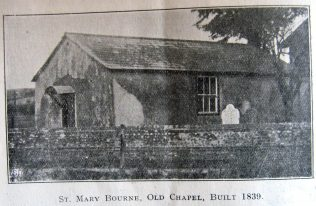 First chapel opened in 1838 | 1932 District Synod Handbook