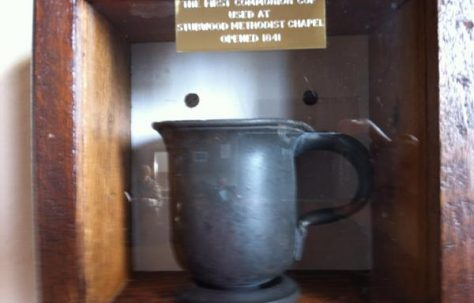 The first communion cup used at Stubwood PM Chapel