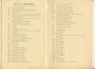 Swan Street Loughborough ministers | Swan Street Centenary Handbook 1949