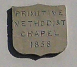 Swannington Primitive Methodist chapel date stone