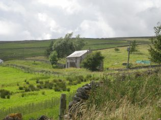 Photo of Swinhope Chapel in the distance