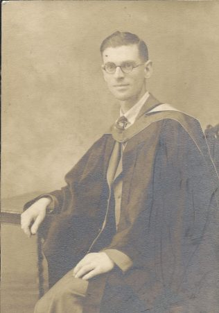 Sydney Markham in academic gown