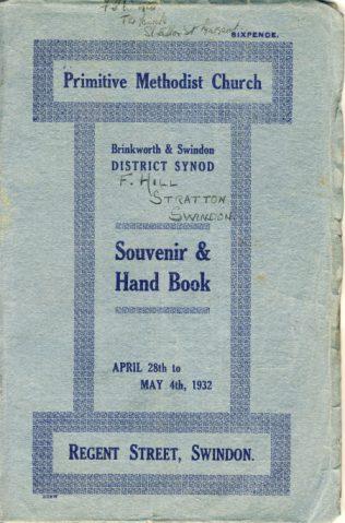 Brinkworth and Swindon District Synod Souvenir Handbook cover | Christopher Hill