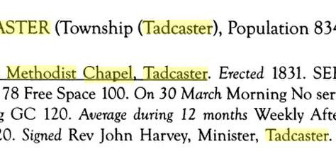 Tadcaster Primitive Methodist chapel