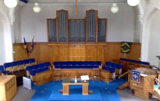 The organ from the PM chapel now in the Central Methodist Church | Central Methodist Church, Letchworth