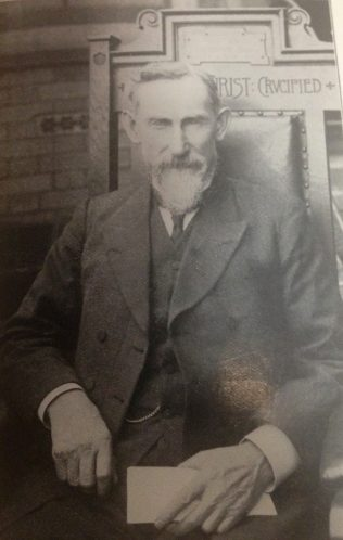 Thomas Jackson sitting on the President's Chair, 1912 (the chair is now at Englesea Brook Museum) | Revd Steven Wild
