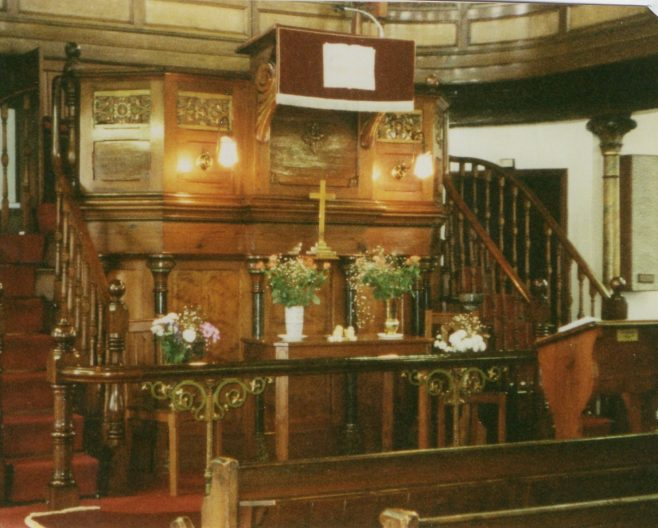 Interior, Toft Hill PM Chapel, Co. Durham | Newcastle upon Tyne District Archives