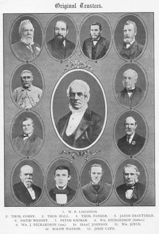 Leighton PM Church Trustees in 1876 | Jubilee Souvenir, 1927