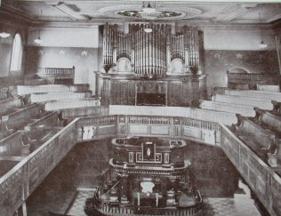 interior of the Jubilee chapel, Tunstall | Handbook of the Primitive Methodist Conference 1929; Englesea Brook Museum