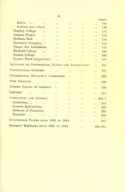 General Rules of the Primitive Methodist Church (revised, 1912)