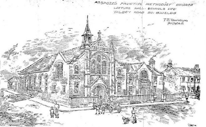 Architects sketch of proposed Talbot Road PM South Shields | Bede Methodist Circuit Archives