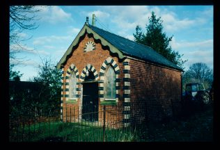 Chapel photographed in Jan 1992 showing the plastic sheeting on the windows | David Hill