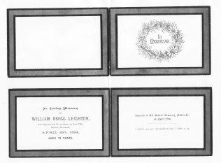 'In Memoriam' card