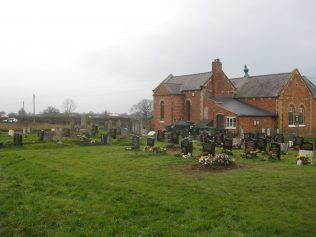 View of graveyard looking towards rear of Chapel. Photo taken January 2018 | E & R Pearce