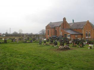 View of graveyard looking towards rear of Chapel. Photo taken January 2018 | E & R Pearce
