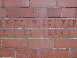 These initialed bricks looked very good.They went all round the chapel