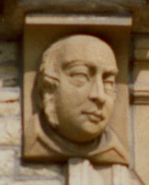 Bust of William Clowes on the left of the top arched stonework | Brian Fisher