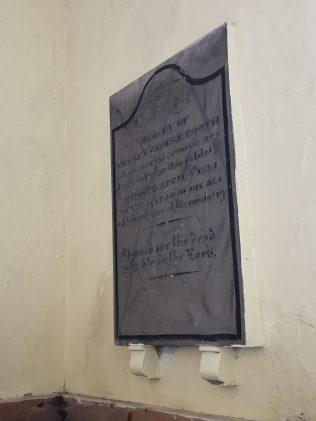 Memorial to George Booth | Revd Robert Foster, Nov 2016