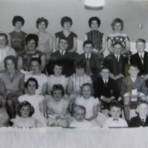 Photo No. 7. Sunday School photo taken in the late 1950s   This photo is by kind permission of the Society at Winterley Methodist Chapel