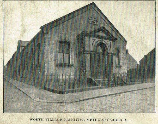 Worth Primitive Methodist Church, Keighley, Yorks | postcard belonging to Steven Wild