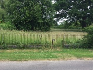 Site of chapel marked by railings. | Rev. David Leese